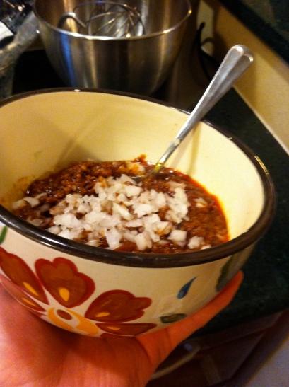 My bowl of Chocolate Chili