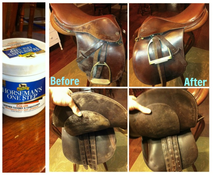 Cleaning my English Saddle that has been in storage.